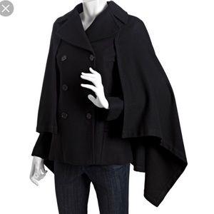 BCBGMAXAZRIA double breasted cape coat jacket